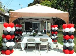 mickey mouse party balloon columns for a mickey mouse party two