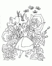 amazing alice in wonderland coloring pages free download