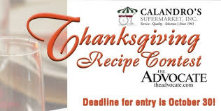 enter the advocate calandro s 2014 thanksgiving recipe contest
