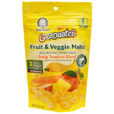 graduates snacks gerber graduates fruit veggie melts truly tropical blend 1 0
