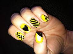 black matte with yellow racer stripe nail nails nailart nails