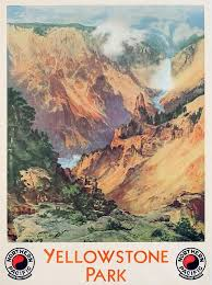 64 best yellowstone vintage posters postcards reproductions