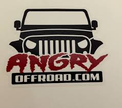 jeep grill sticker angry off road products including jeep grab handles jeep ipad