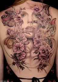 large flower tattoos on back backpiece tattoo artists org