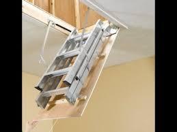 attic ladder install youtube