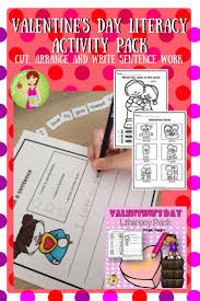 valentines day writing paper 73 best valentine s day images on pinterest valentines day literacy pack sentence writing grammar