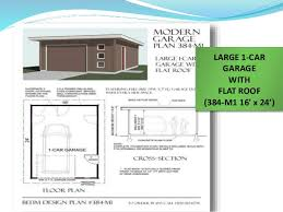 16 X 24 Garage Plans how flat roof garages can be a better choice