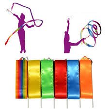ribbon sticks children colorful gymnastic ribbons rock ribbon sticks sale