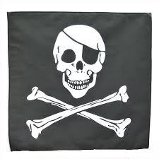 pirate skull crossbones 21 x 21 54cm x 54cm kerchief scarf