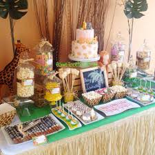 safari babyshower candy and desserts table cake pops fondant
