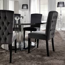 6 Black Dining Chairs Modern Dining Furniture Modern Oval Dining Table Best Dining Room