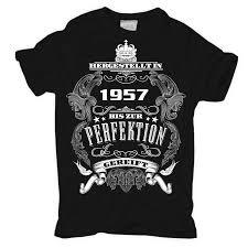 spr che zum 60 geburtstag qualität t shirt bis zur perfektion gereift 1957 geschenk 60