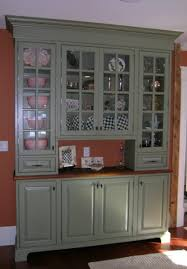 Glass Doors Cabinets by Gray Wooden Cabinet With Light Brown Wooden Top Also Storage With