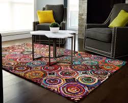 Round Rugs For Bathroom Floors U0026 Rugs Rainbow Jute Circle Rugs For Modeern Interior