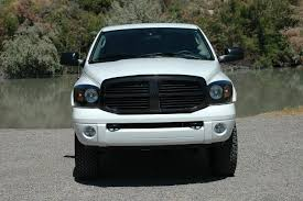dodge ram white grill white truck that has been blacked out dodge diesel diesel