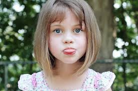 kids angled bob haircut long bob with bangs this longer version of a classic bob is great