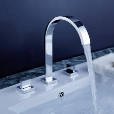 contemporary chrome finish bathroom sink faucet
