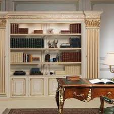 classic bookcase with pilaster with compartments vimercati