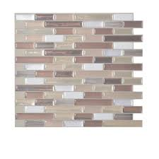 smart tiles muretto durango 10 20 in w x 9 10 in h peel and