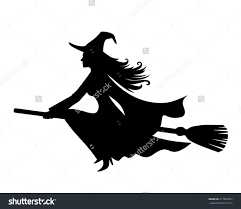 witches broom silhouette clipart clipground