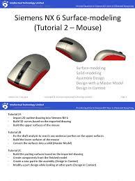 free siemens nx unigraphics tutorial surface modeling auto