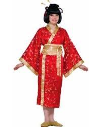 bargains on madame butterfly red kimono geisha asian girls kids
