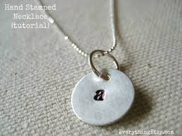 Necklaces With Initials Hand Stamped Necklace Tutorial Diy Gift