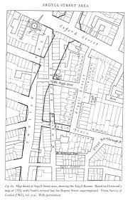 1813 regent street plan john nash drawing superimposed on the