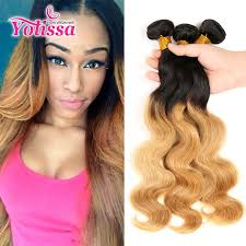 pictures of black ombre body wave curls bob hairstyles ombre body wave hair 3 bundles 1b 27 brazilian human hair weaves