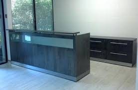 Reception Desk With Display Glass Reception Desk Veneer Glass Panel Reception Desk Glass