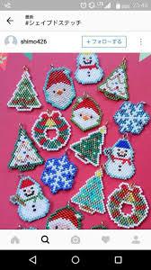 433 best christmas beaded images on pinterest peyote patterns