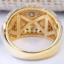 online shop new gold color ring cocktail party jewelry aaa cubic