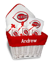 cincinnati gift baskets personalized cincinnati reds medium gift basket mlb baby gift