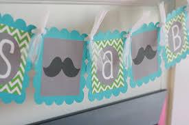 mustache bash baby shower or birthday chevron little