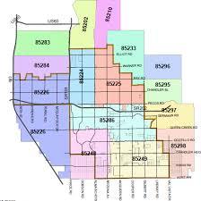 map of chandler az tempe az zip code map zip code map