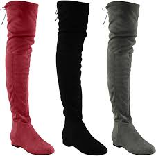 womens boots low heel s thigh high boots the knee low heel flat lace