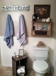 rustic bathroom decor reclaimed crate pallet shelf bathroom