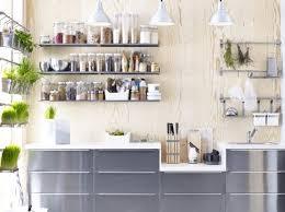 ikea amenagement cuisine cuisine avec etageres condiments ikea kitchen