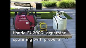 honda eu2000i generator operating with propane youtube