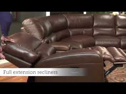 motion sofas and sectionals versa motion sectional by bassett furniture youtube