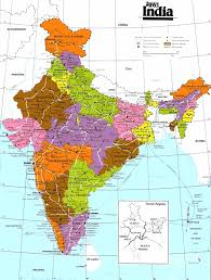 Map Of States With Capitals by Indian States India Quick Facts