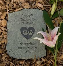 pet memorial stones pet memorial pawprints in heaven