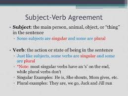 subject verb agreement in more complex sentences u2026 ppt download