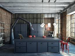 loft kitchen ideas loft kitchen ideas attractive modern industrial use the wall bricks