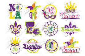 mardi gras picture frames mardi gras monogram frames svg bundle b design bundles