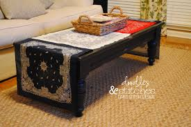 table runner for coffee table doodles stitches bandana table runner