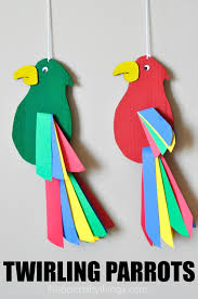 How To Make A Paper Beak - colorful and twirling parrot craft i crafty things