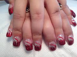 red party dress nail art designs by top nails clarksville tn