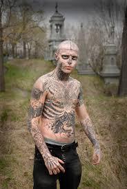 man tattoos himself as a zombie neville elder