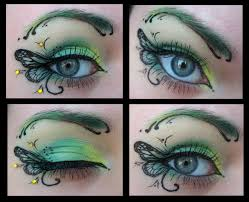 whimsical and colorful butterfly eye up with accents